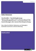 """Sterbehilfe / Sterbebegleitung - """"Behandlungsabbruch"""" in Deutschland: Die Auswirkungen der neuen Rechtsprechung"""