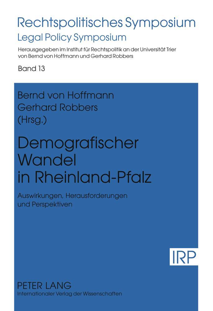 Demografischer Wandel in Rheinland-Pfalz als Bu...