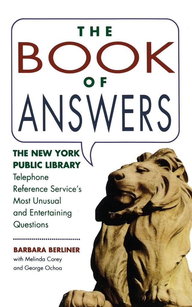 BOOK OF ANSWERS als Taschenbuch