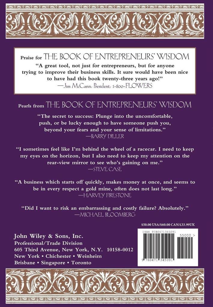 The Book of Entrepreneurs' Wisdom: Classic Writings by Legendary Entrepreneurs als Buch