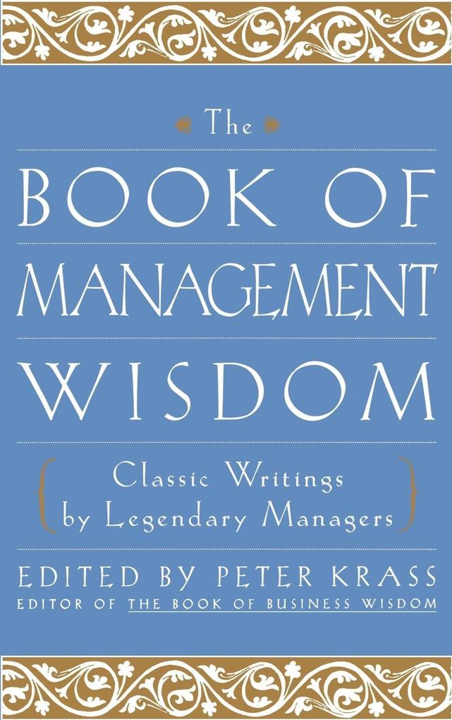 The Book of Management Wisdom als Buch