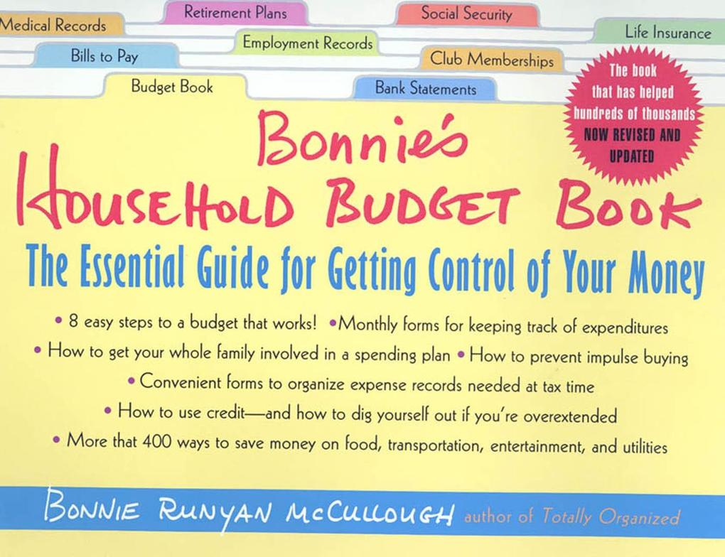 Bonnie's Household Budget Book: The Essential Guide for Getting Control of Your Money als Taschenbuch
