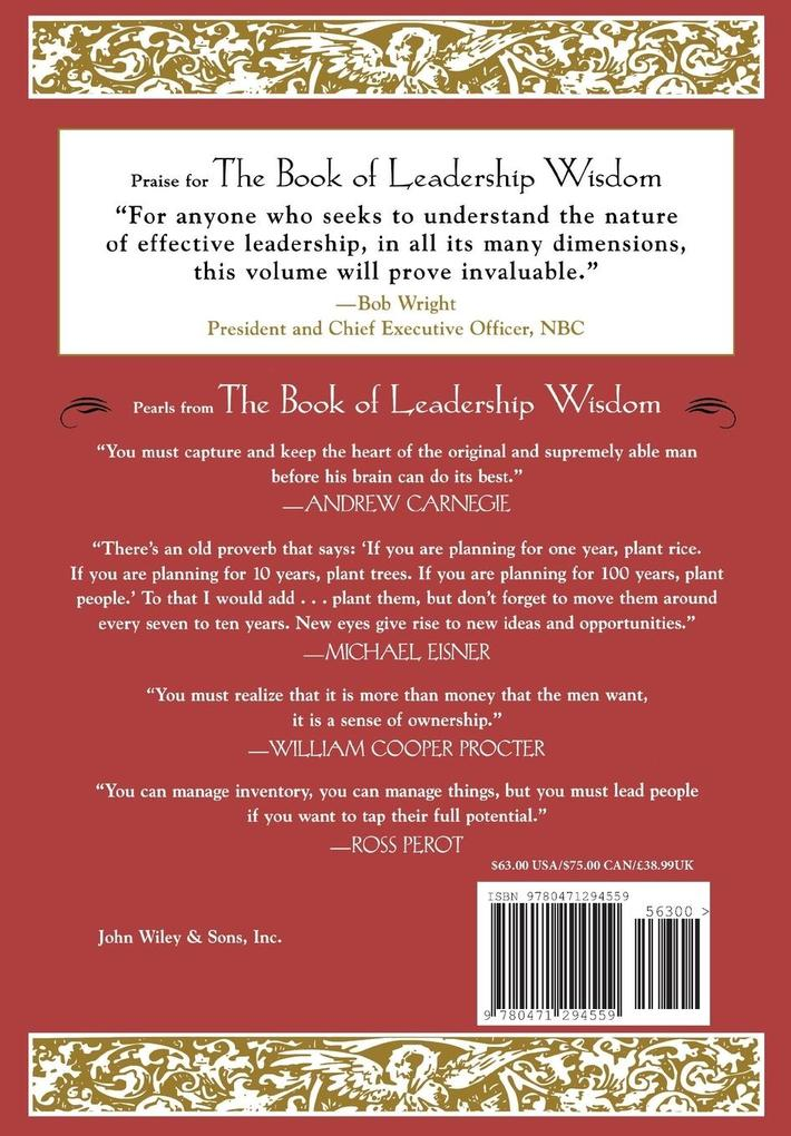 The Book of Leadership Wisdom: Classic Writings by Legendary Business Leaders als Buch