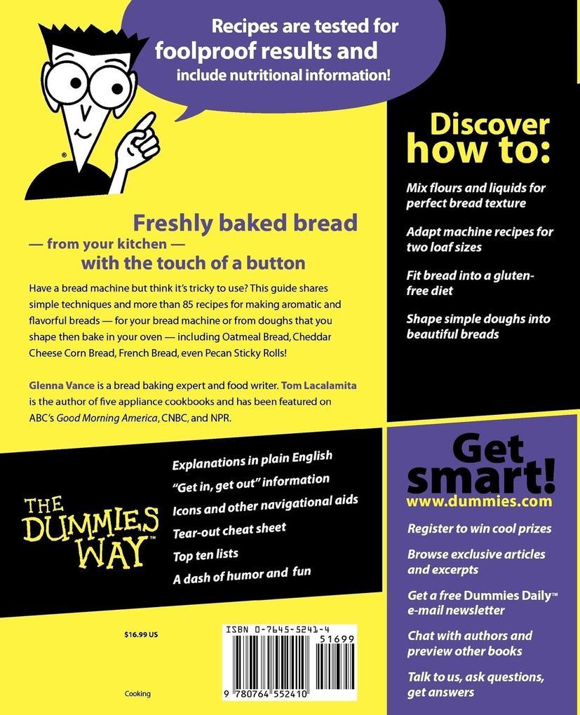 Bread Machines for Dummies als Taschenbuch