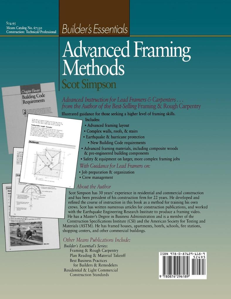 Advanced Framing Methods: The Illustrated Guide to Complex Framing Techniques, Materials and Equipment als Taschenbuch