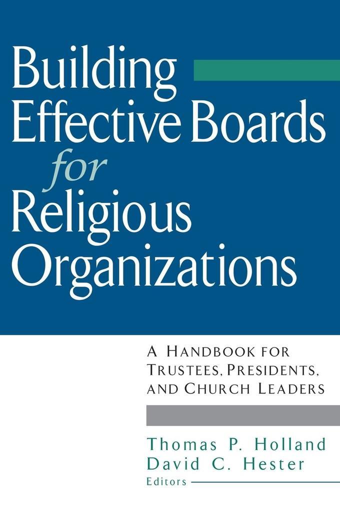 Building Effective Boards als Taschenbuch