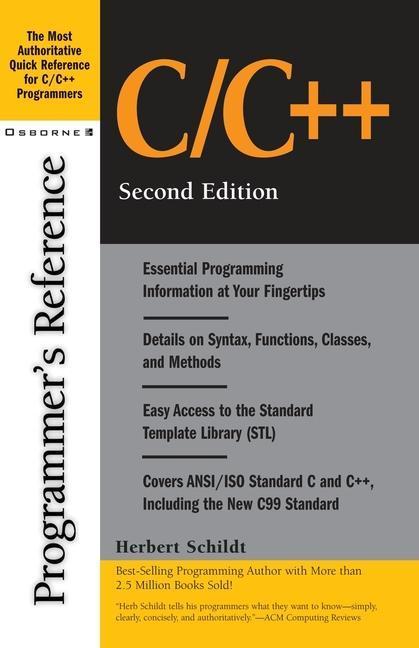 C/C++ Programmer's Reference als Taschenbuch