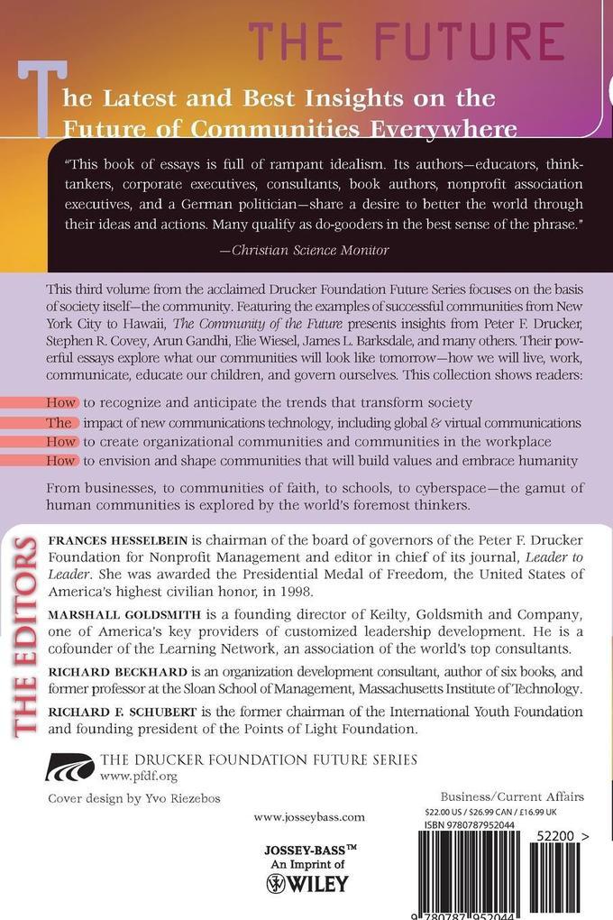 The Drucker Foundation: The Community of the Future als Taschenbuch