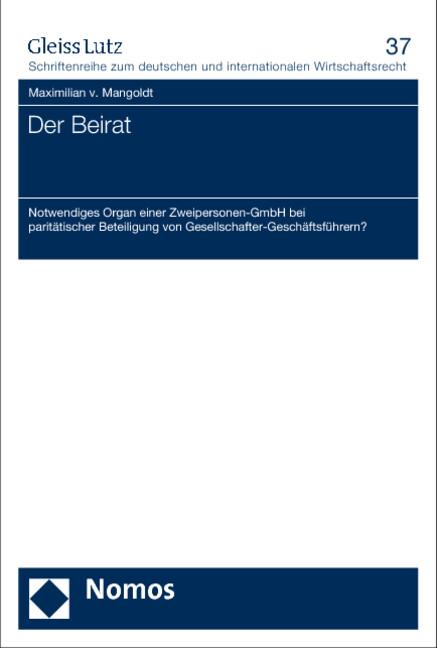 Der Beirat als Buch von Maximilian v. Mangoldt