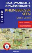 Rheinsberger Seen, Großer Stechlin 1 : 35 000 Rad -, Wander- und Gewässerkarte