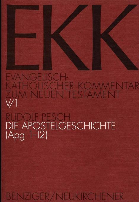 Die Apostelgeschichte, EKK V/1 als Buch