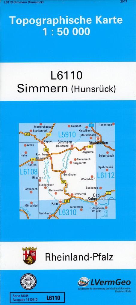 Simmern (Hunsrück) 1 : 50 000 als Buch von Land...