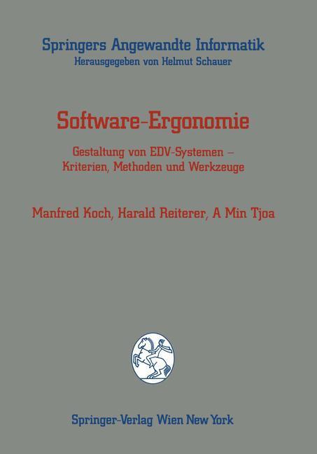 Software-Ergonomie als Buch von Manfred Koch, H...
