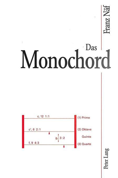 Das Monochord als Buch