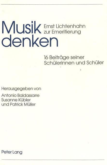 Musik denken als Buch von