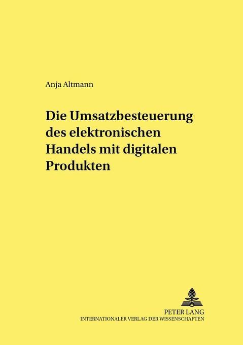 Die Umsatzbesteuerung des elektronischen Handel...