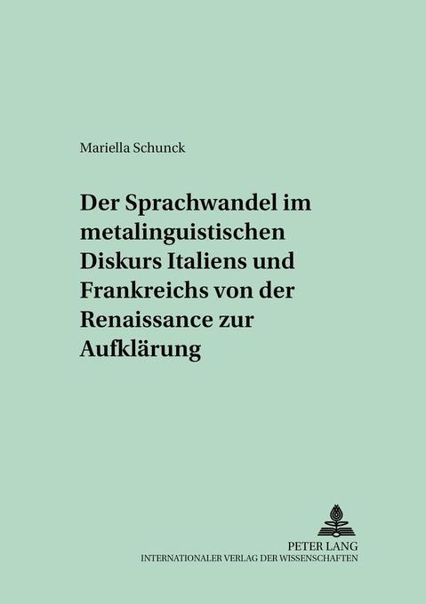 Der Sprachwandel im metalinguistischen Diskurs ...