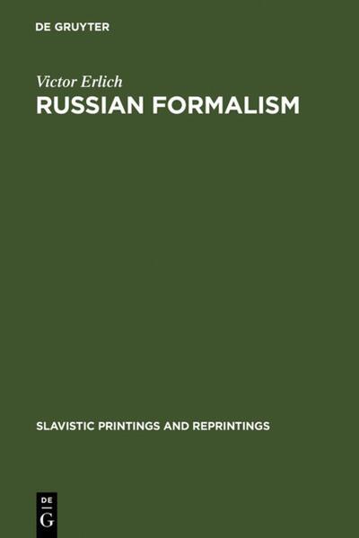Russian Formalism als Buch von Victor Erlich