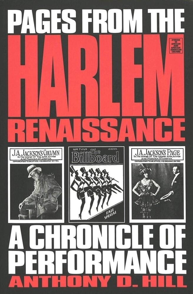 Pages from the Harlem Renaissance als Buch von ...