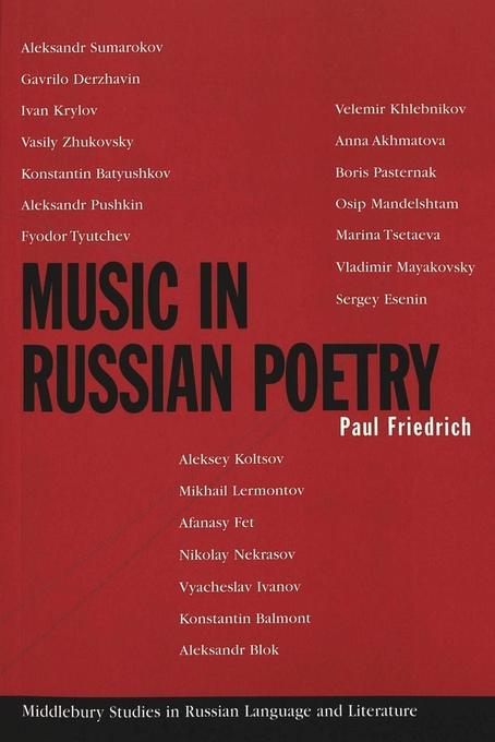 Music in Russian Poetry als Buch von Paul Fried...