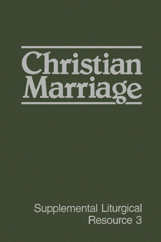 Christian Marriage als Taschenbuch