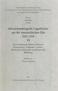 Altwürttembergische Lagerbücher VI aus der österreichischen Zeit 1520 - 1534