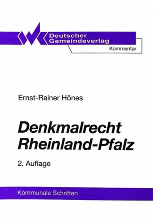 Denkmalrecht Rheinland-Pfalz als Buch von Ernst...