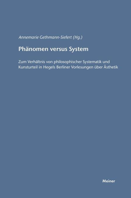 Phänomen versus System als Buch von