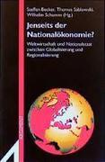 Jenseits der Nationalökonomie?