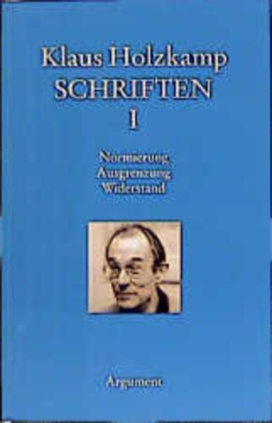 Schriften I als Buch von Klaus Holzkamp