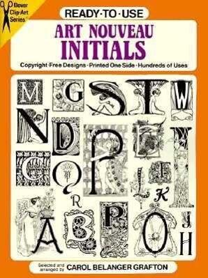 Ready-To-Use Art Nouveau Initials als Taschenbuch