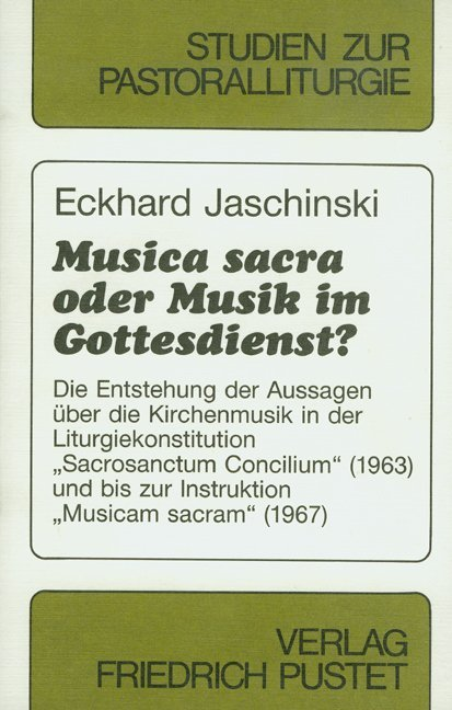 Musica sacra oder Musik im Gottesdienst? als Bu...