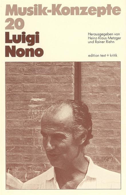Luigi Nono als Buch von Heinz-Klaus Metzger, Ra...