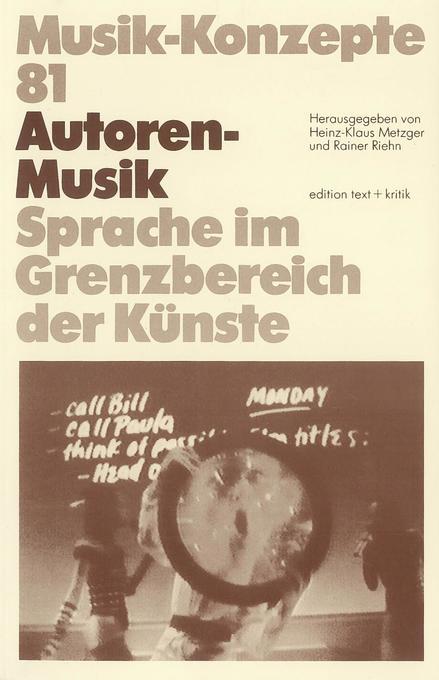Autoren-Musik als Buch von Heinz-Klaus Metzger,...