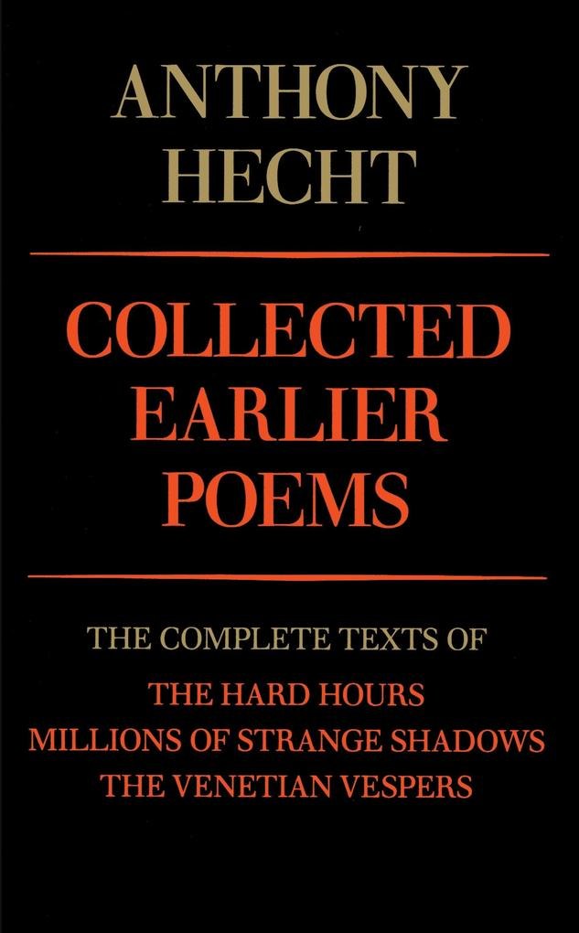 Collected Earlier Poems als Taschenbuch