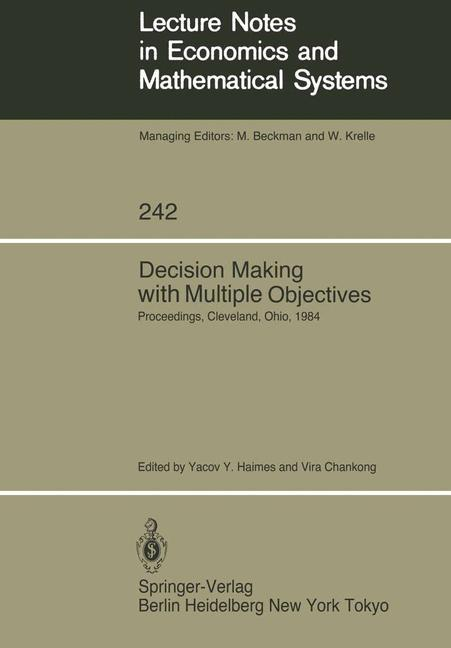 Decision Making with Multiple Objectives als Bu...