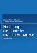Einführung in die Theorie der quantitativen Analyse