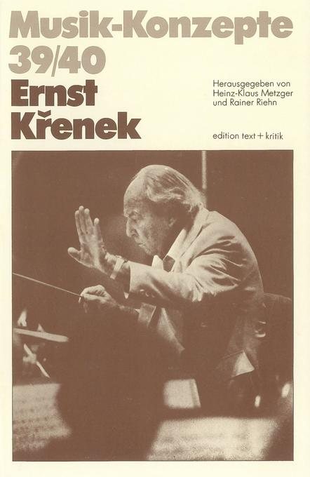Ernst Krenek als Buch von Heinz-Klaus Metzger, ...