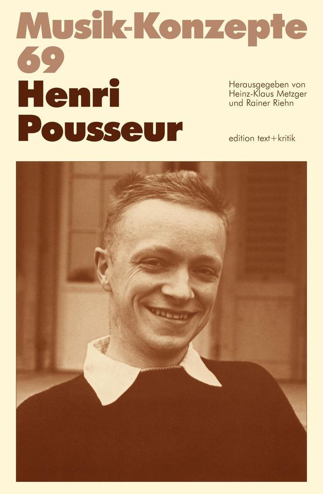 Henri Pousseur als Buch von Heinz-Klaus Metzger...