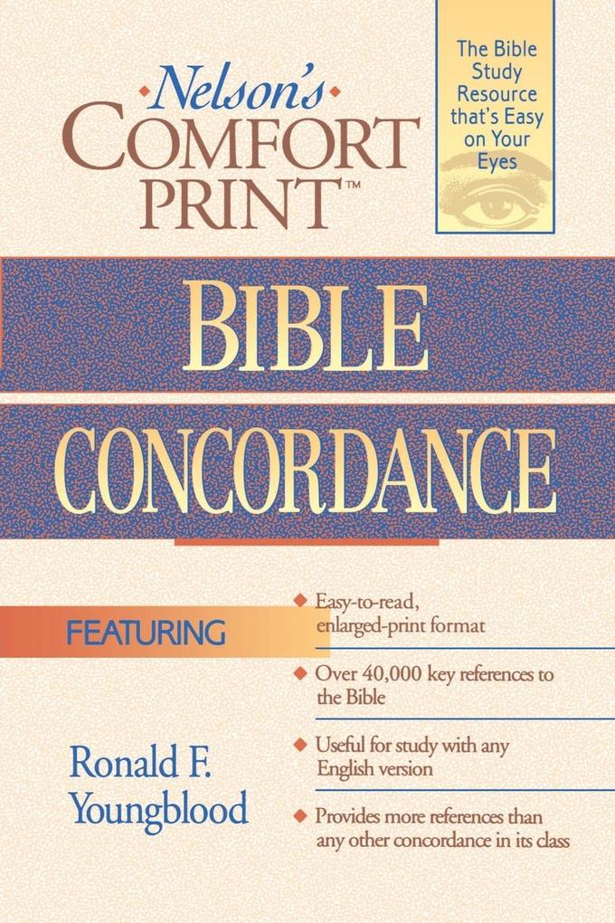 Comfort Print Bible Concordance als Taschenbuch