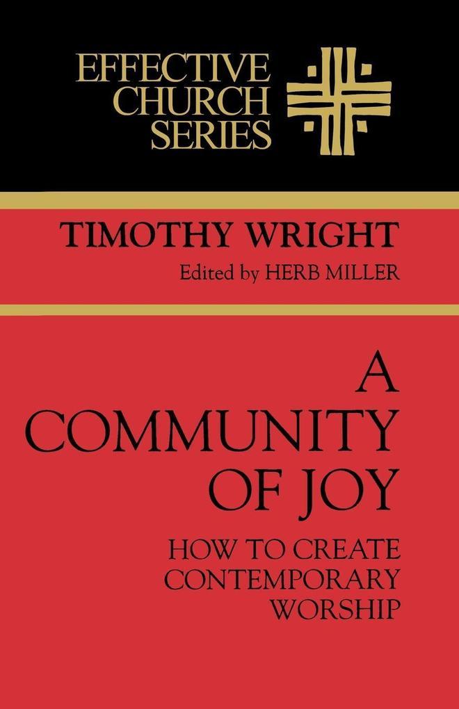 A Community of Joy als Taschenbuch von Tim Wright