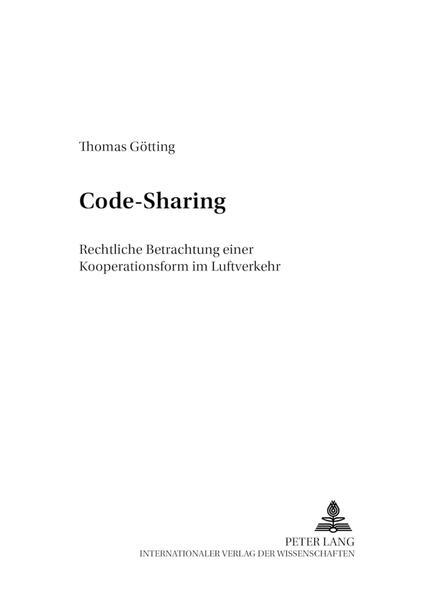 Code-Sharing als Buch von Thomas Götting