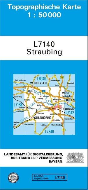 Topographische Karte Bayern.Topographische Karte Bayern Straubing