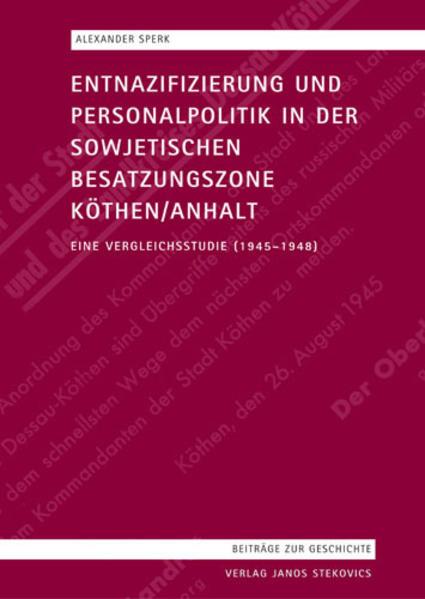 Entnazifizierung und Personalpolitik in der sow...