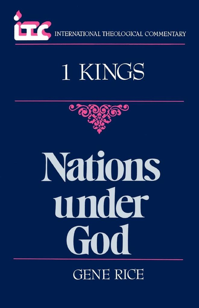 Nations Under God: A Commentary on the Book of 1 Kings als Taschenbuch