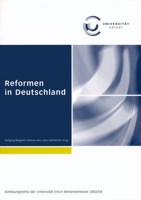 Reformen in Deutschland als Buch von