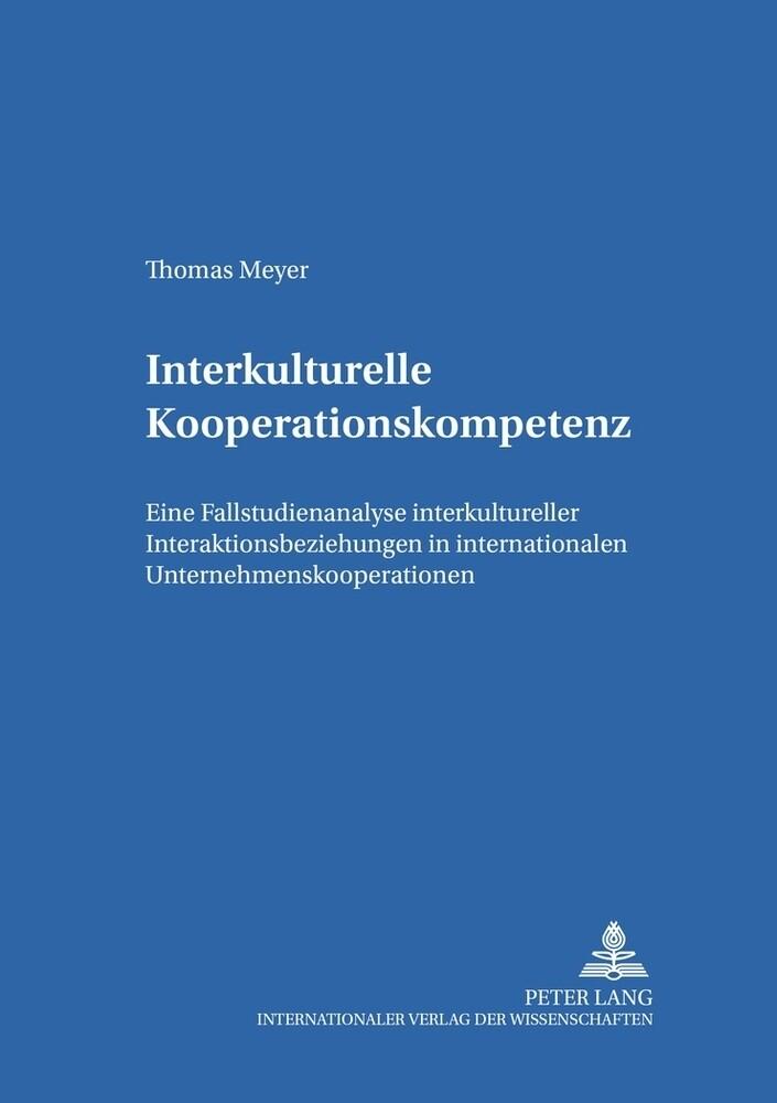 Interkulturelle Kooperationskompetenz als Buch ...