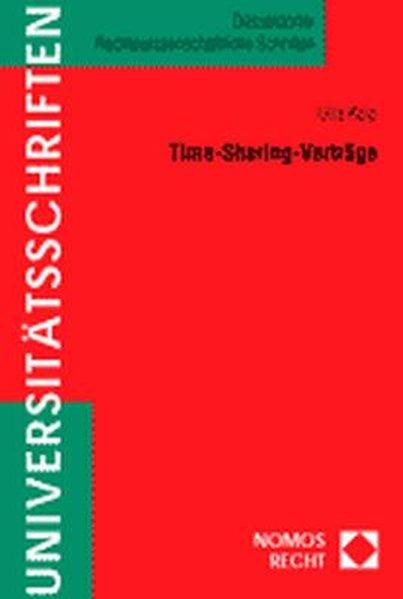 Time-Sharing-Verträge als Buch von Ulla Kelp