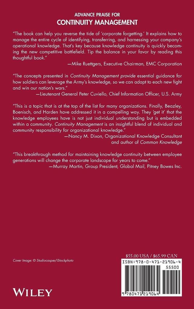 Continuity Management als Buch