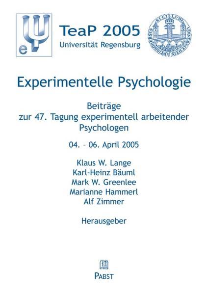 Experimentelle Psychologie als Buch von